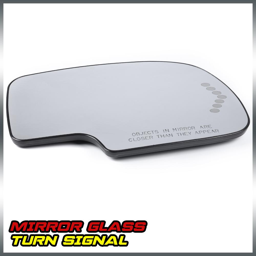 DRIVER MIRROR-GLASS+POWER+LED SIGNAL+HEATED+BACKING PAD~03-06 ESCALADE SILVERADO
