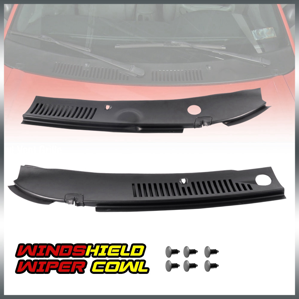 Drive/& Passenger Side HECASA Windshield Wiper Cowl Vent Grille Cover Panels for 99-04 Ford Mustang 2 Pcs