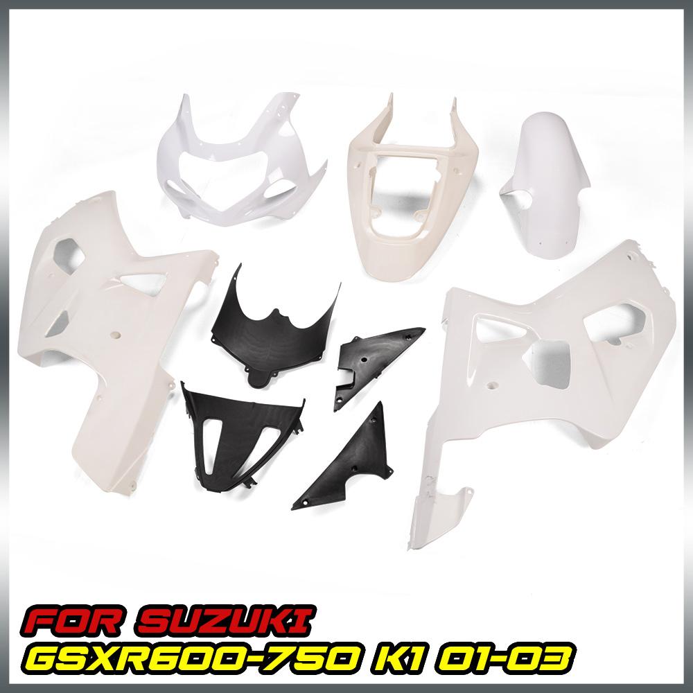 Unpainted Motorcycle Fairing BodyWork Kit Fit Suzuki GSXR600//750 2011-2015 12 13